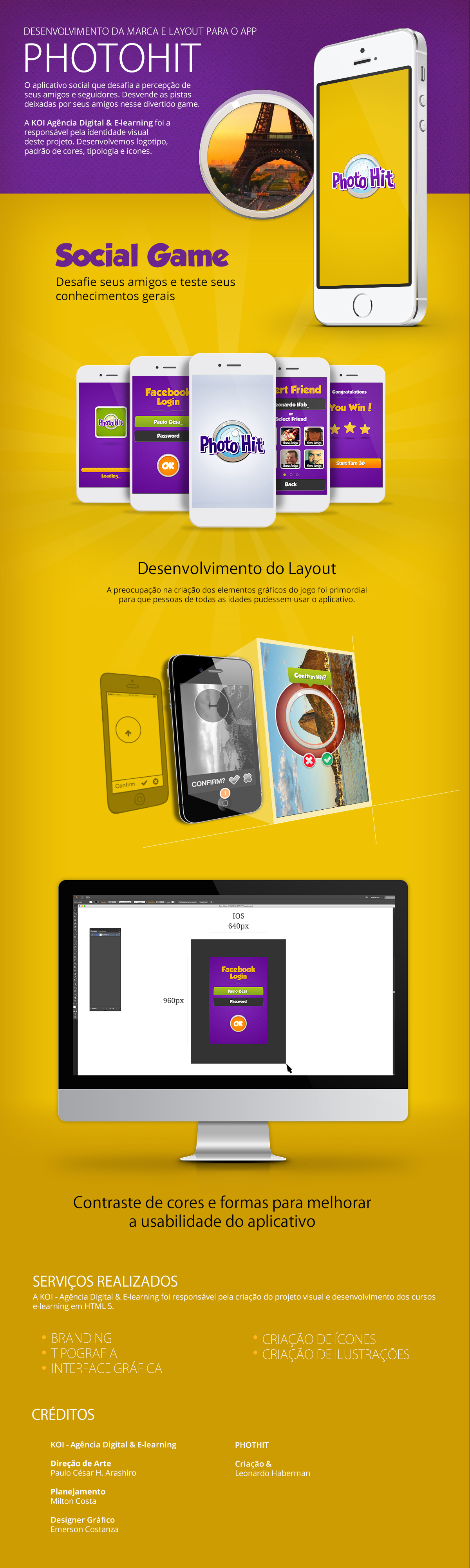 KOI - Agência Digital & E-learning: APP IOS, Android Photohit