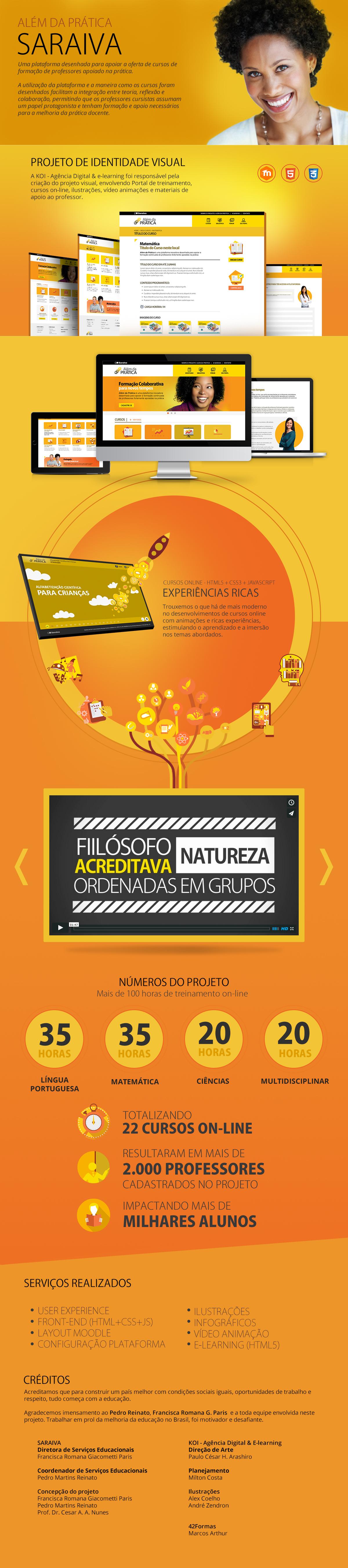 KOI - Agência Digital & E-learning. Projeto Saraiva: Além da Prática